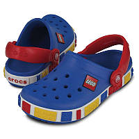 Кроксы для мальчика Лего Крокбенд оригинал / Сабо Crocs Kids' Crocband Lego Clog / Blue Red