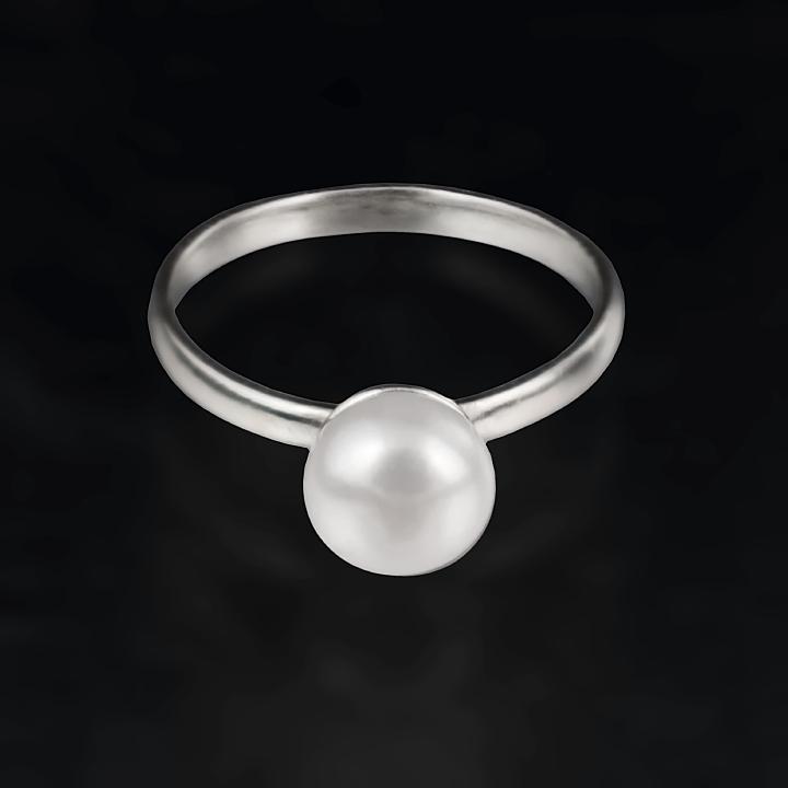 Жемчуг белый Ø8, серебро 925, кольцо, 442КЖ - купить по лучшей цене ... 1769a492c6e