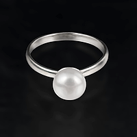 Жемчуг белый Ø8, серебро 925, кольцо, 442КЖ