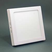 Светодиодный светильник накладной Ecostrum 18W 4000K (нейтральный) квадрат (LED панель)