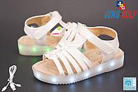 Детские босоножки на  девочек с подошвой LED оптом от фирмы Jong Golf C9666-7 (8 пар, 29-34)