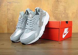 Женские и мужские кроссовки в стиле Nike Air Huarache Damen Grau, фото 3