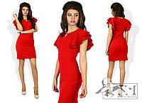 Женское платье с воланами. Красное.