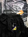 Детские спортивные штаны на мальчика черные 42-44 размер, фото 5