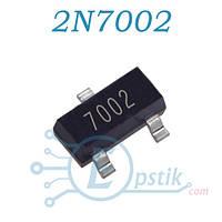 2N7002LT1G (7002), Транзистор, N-канал, 60В, 0.2А, SOT23