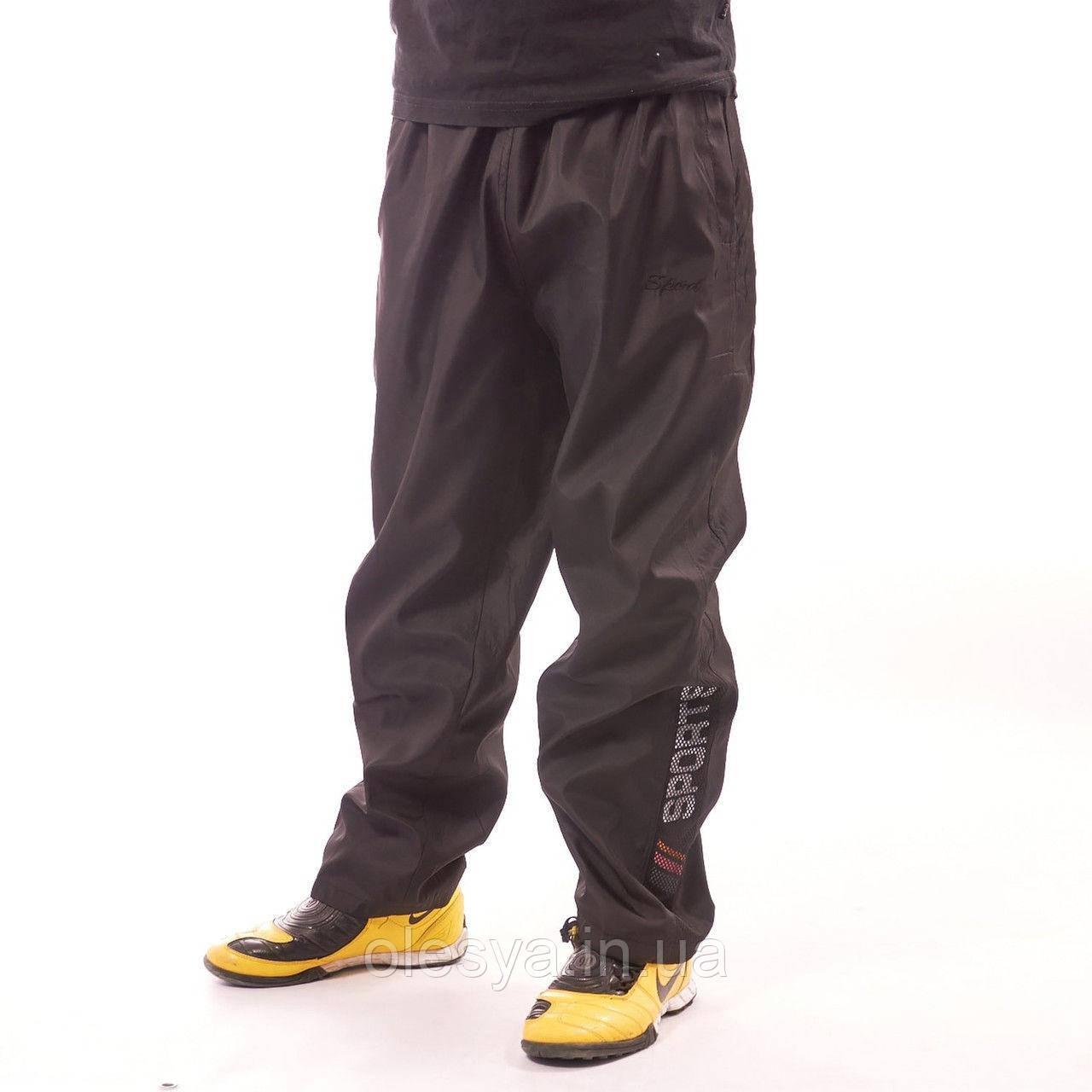 Детские спортивные штаны на мальчика черные 42-44 размер