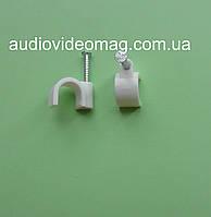 Скоба нейлоновая для кабеля диаметром 8 мм, упаковка 100 шт