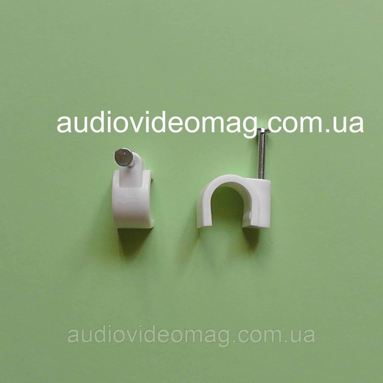 Скоба нейлоновая для кабеля диаметром 10 мм, упаковка 100 шт