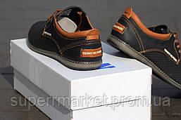 Мужские туфли Tommy Hilfiger (черные) кожаные туфли 41р, фото 3