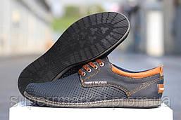 Мужские туфли Tommy Hilfiger  синие  кожаные туфли 44р,45р, фото 2
