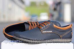 Мужские туфли Tommy Hilfiger  синие  кожаные туфли 44р,45р, фото 3