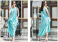 Женское модное вечернее платье с драпировкой (3 цвета)