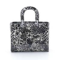 Лаковая сумка женская Dior леопард