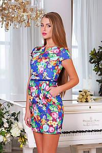 """Сукня з джинсової тканини """"Квіти"""" розм.М(44-46)"""