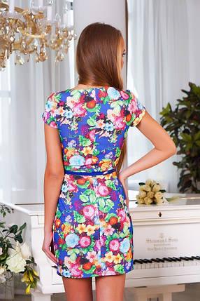 """Сукня з джинсової тканини """"Квіти"""" розм.М(44-46), фото 2"""