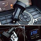 Автомобильное зарядное, сдвоенный USB, с индикацией напряжения, тока, температуры, фото 4