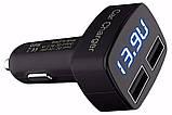 Автомобильное зарядное, сдвоенный USB, с индикацией напряжения, тока, температуры, фото 7