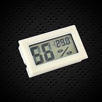 Цифровой гигрометр-термометр Белый