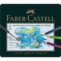 117524 24 цвета АКВАРЕЛЬНЫЕ КАРАНДАШИ ALBRECHT DURER В МЕТАЛЛИЧЕСКОЙ КОРОБКЕ Faber Castell