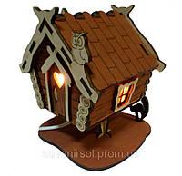 Соляной светильник домик деревянный 1