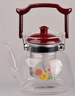 Заварочный стеклянный чайник 1200 мл Empire EM9460 (Empire Эмпаир Емпаєр) 