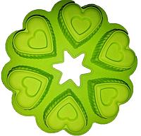 Силиконовая форма для выпечки 6 фигурных сердец 25*4.5 CM EM7174 (Empire Эмпаир Емпаєр) 