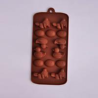 Силиконовая форма под шоколад / лед Утки 12 шт 20*12*2см EM7158 (Empire Эмпаир Емпаєр) 