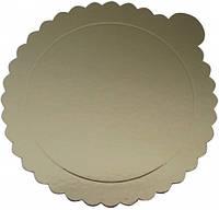 EM0208 Подложка под торт Ø 260мм, золото (1уп =20шт) (Empire Эмпаир Емпаєр) 