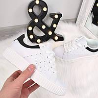 Кроссовки криперы Kreeper белые с черным, спортивная обувь