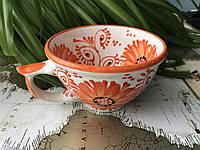 Чашка керамическая Оранжевая (ручная работа)