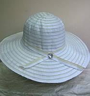 шляпа из текстильной ленты  белого цвета
