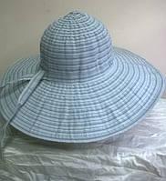 шляпа из текстильной ленты  сереого цвета