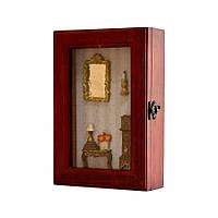 """Ключница на 6 крючков деревянная """"Мебель """""""