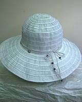 шляпа из текстильной ленты молочного цвета