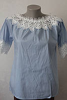 Блуза хлопок с кружевом -2, фото 1