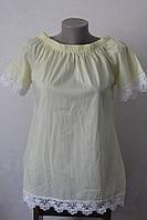 Блуза хлопок с кружевом по низу