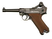 Пистолет пневматический Gletcher Luger Parabellum P08 Blowback