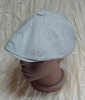 Кепка светло серая, льняная мужская восмиклинка 60 раз