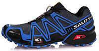 Мужские спортивные кроссовки Salomon Speedcross 3 Саломон синие/серые