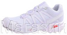 Мужские спортивные кроссовки Salomon Speedcross 3 White Саломон белые, фото 3