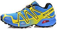 Мужские спортивные кроссовки Salomon Speedcross 3 Саломон голубые