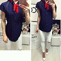 Рубашка короткий рукав (781) лепесточек цвет синий, фото 1