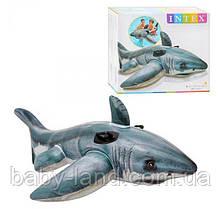 Плотик детский надувной Акула Intex 57525
