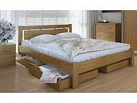 """Деревянная кровать """"Осака"""" с ящиками"""