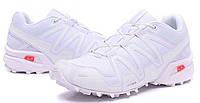 Мужские спортивные кроссовки Salomon Speedcross 3 White Саломон белые
