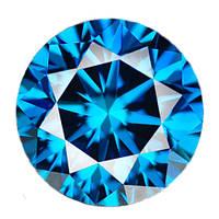 Бриллиант синий круг 3 мм. 0,10 карат
