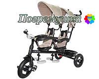 Детский трехколесный велосипед Crosser Twins Air - Бежевый