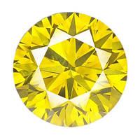 Бриллиант желтый круг 3,3 мм. 0,13 карат