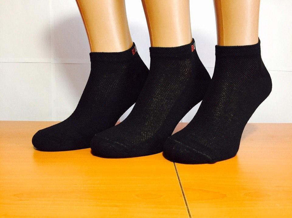 Носки мужские спортивные сетка «Крокус» 27 размер, чёрные