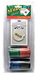 Покерний набір в блістері (колода карт,48 фішок)(26х11х4 см)